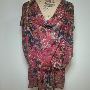 Lane Bryant Multi Color Paisley Tunic Size 14
